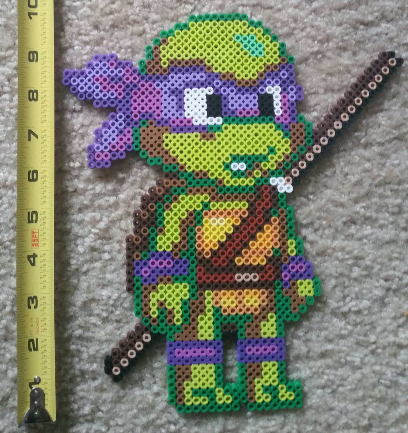 Kid Teenage Mutant Ninja Turtles perler beads by BeadtasticDesigns300