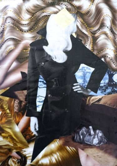 "Saatchi Art Artist Jelena Rokanovic Vonarb; Collage, ""Blonde"" #art"