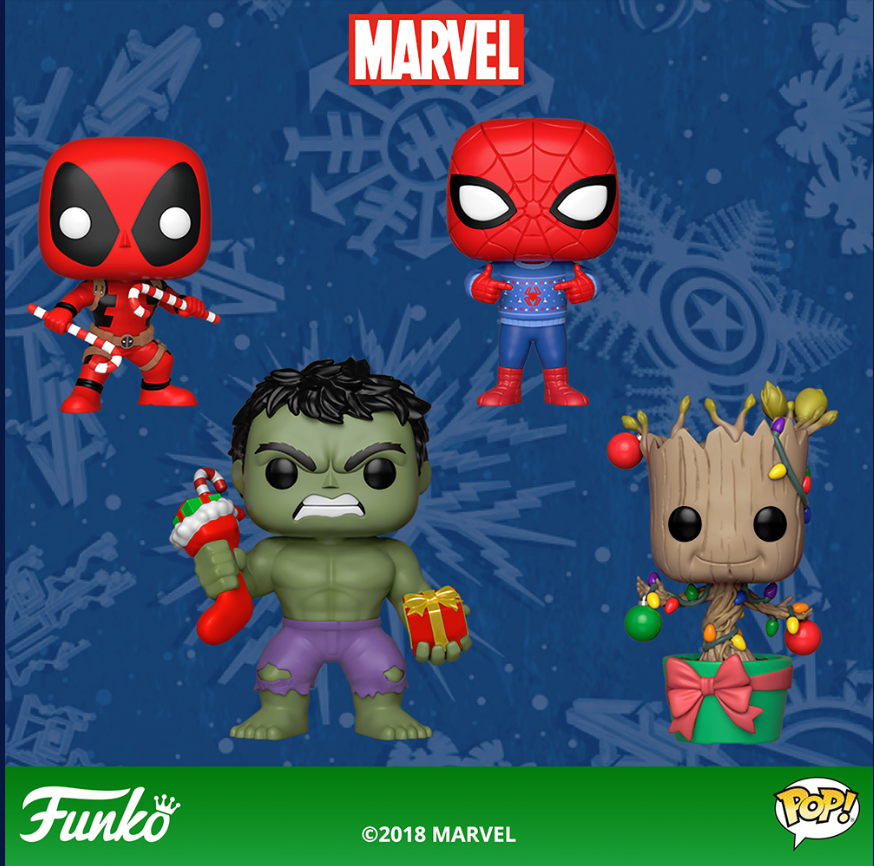 Christmas is starting now! New Holiday Marvel Funko Pop