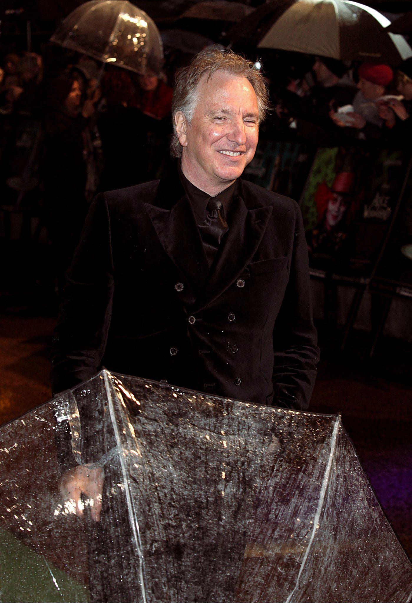 Alan Rickman Alice In Wonderland Premiere