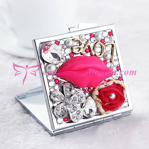 Luxury lip design square Small promotional double sided personalized handheld mirror, View double sided handheld mirrors, EASAM Product Details from Yiwu Easam Art Co., Ltd. on Alibaba.com