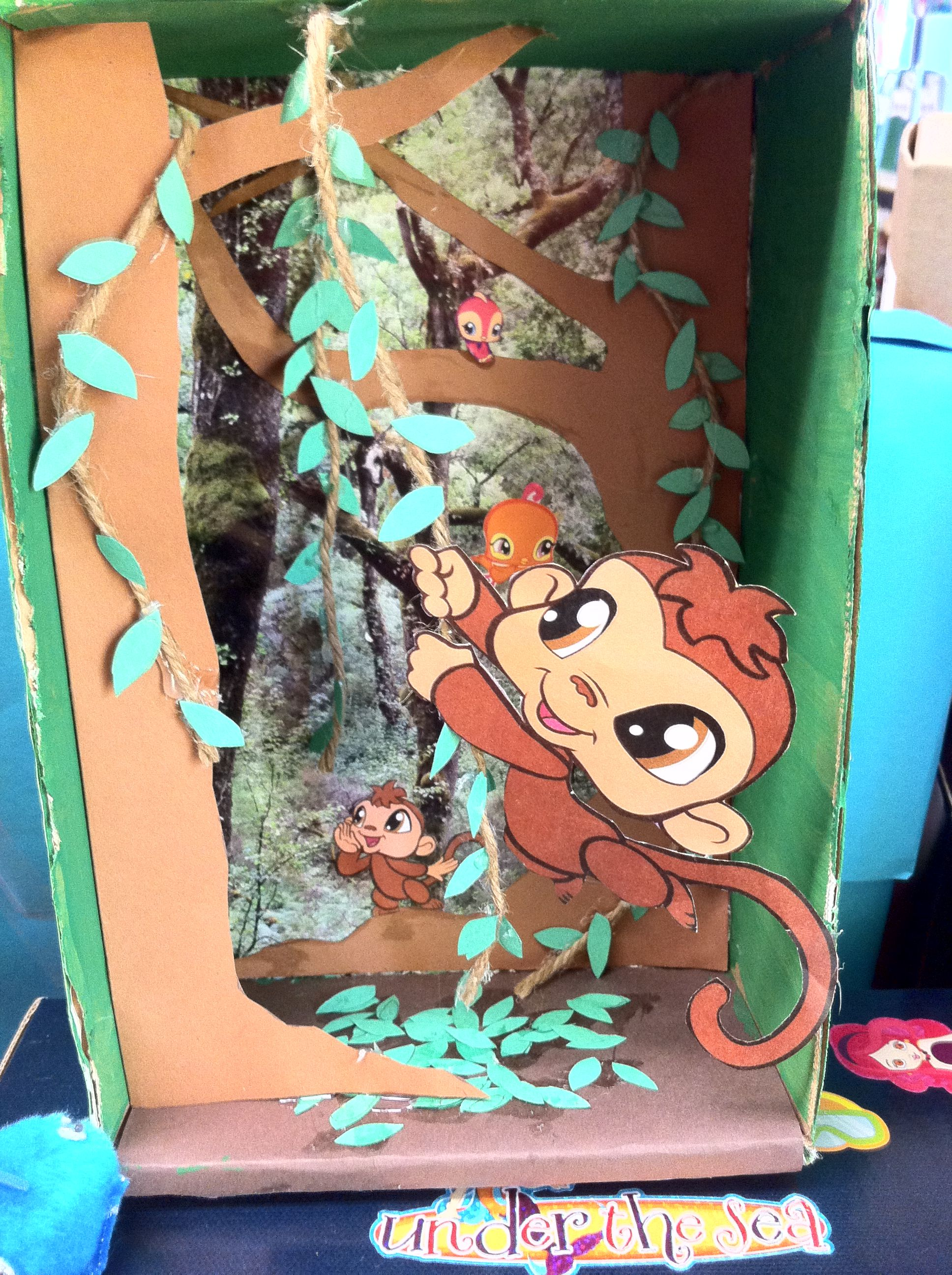 Monkey Diorama