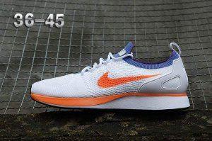 c4f10341d9d7 Mens Womens Nike Air Zoom Mariah Flyknit Racer Running Shoes White Blue  Orange