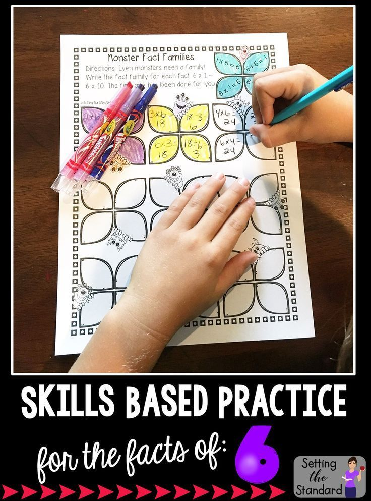 Multiplication Worksheets Games Practice For Facts Of 6
