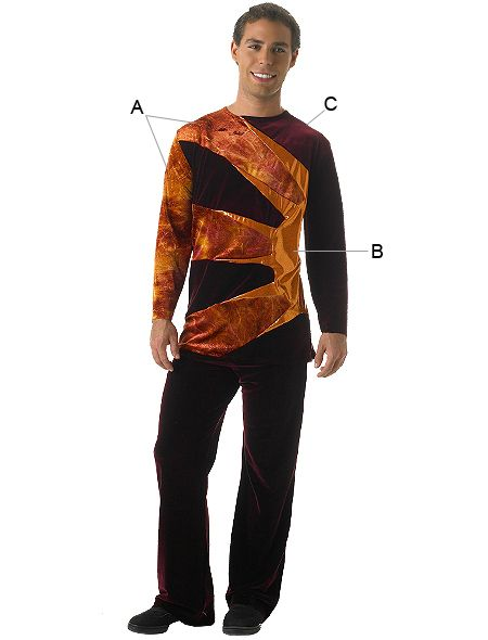 Algy Aztec Male Top W Plush Bottom Take Sleeves Off Cheerleading Uniforms Winter Guard Boy Costumes