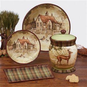 Rustic Nature Biscuit Jar 10  by Susan Winget - Certified International Dinnerware & Rustic Nature Biscuit Jar 10