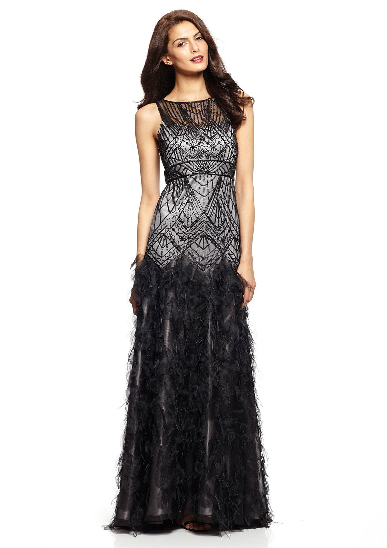 ideeli | SUE WONG Ball Gown with Feather Detail $349.99 | My Style ...