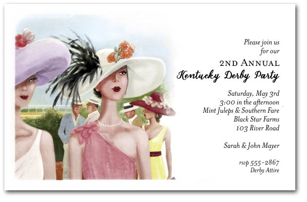 Derby Elegance Invitation wording, Bachelorette parties and Bridal - best of invitation wording lunch to follow