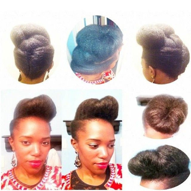 Have a formal event coming up soon? Here's some hairspiration from @chelsea_alexa. Lovely! #teamnatural #updo #naturalhair