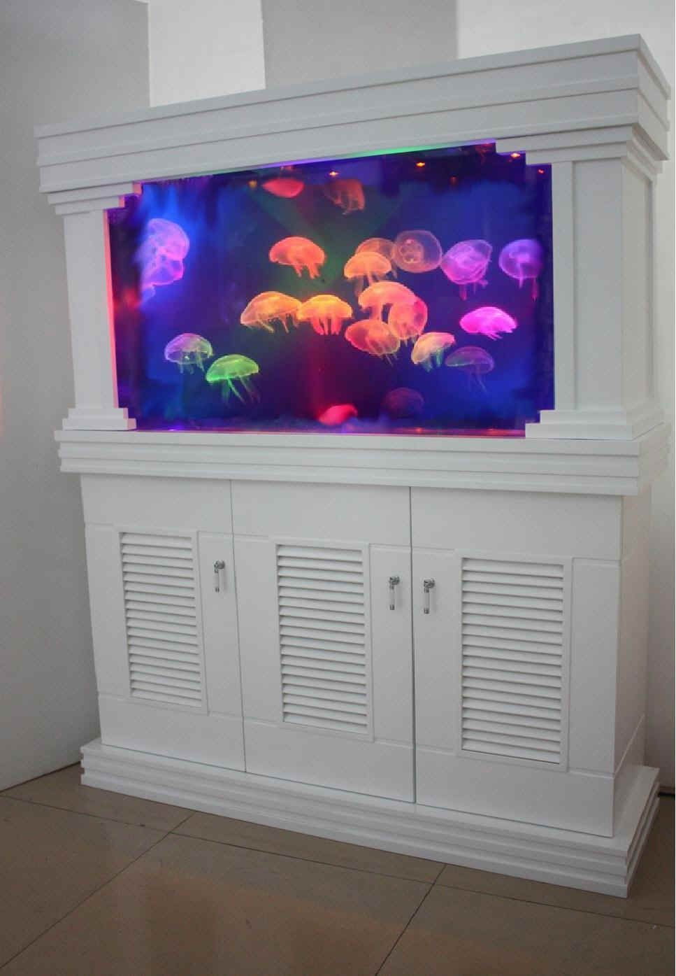 Aquarium fish tank game - Built In Home Jelly Fish Aquarium How Cool This Would Be Awesome In A Downstairs Game