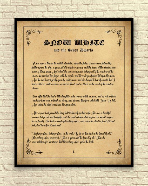 J.R.R Tolkien Hobbit Child Dictionary Wall Art Print Book Inspirational Page