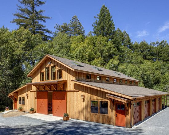 I like this outbuilding configuration with clerestory for Clerestory roof design