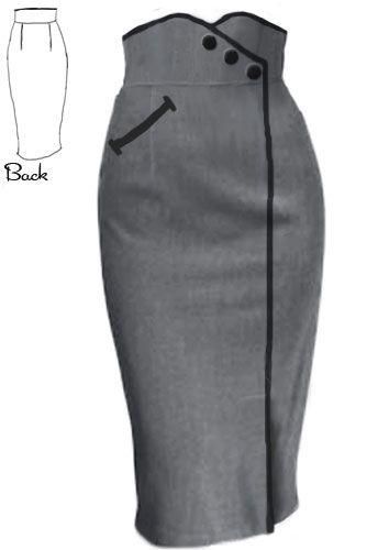 fcb0737f1 Falda con pretina ancha   Moda   Faldas, Ropa y Faldas largas de vestir