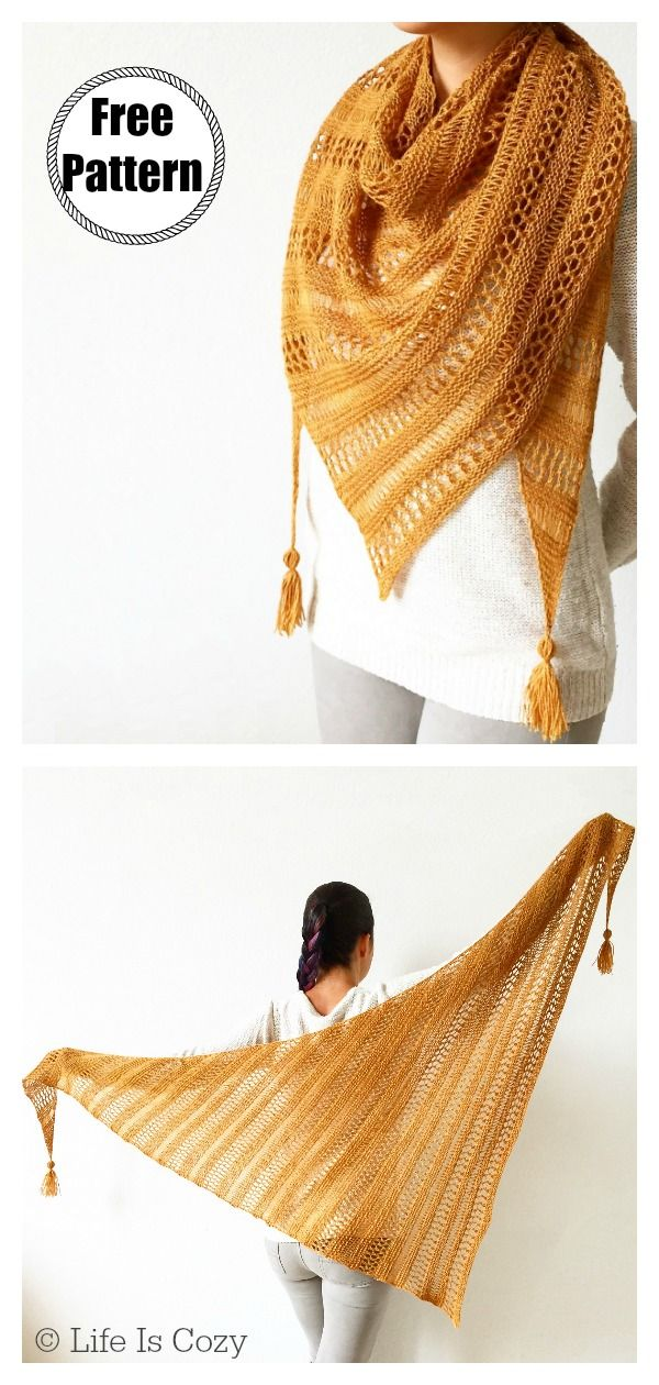 Stormy Sky Lace Shawl Free Knitting Pattern