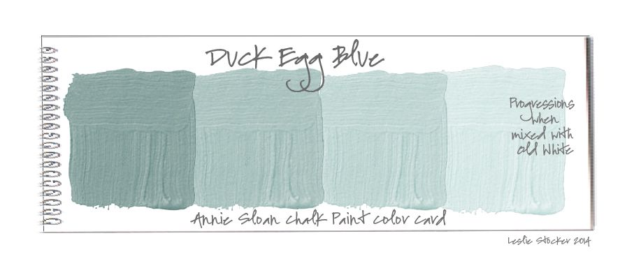 Color swatch cards of duck egg blue chalk paint by for Duck egg blue bathroom ideas