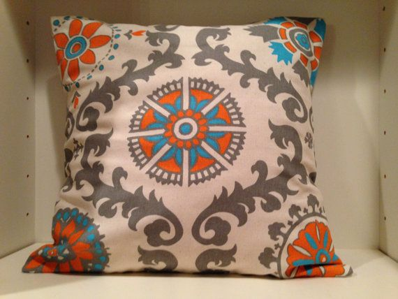 Decorative Throw Pillow Cover with Envelope Closure Turquoise