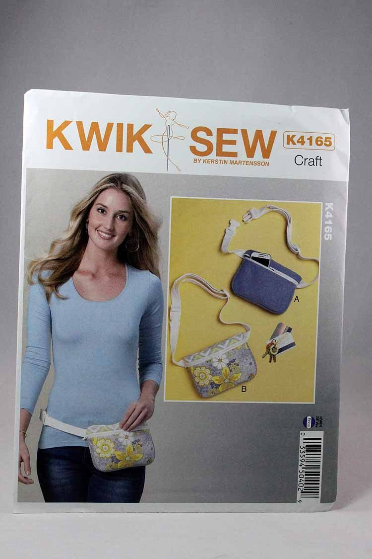 Kwik Sew 4165, Misses\' Belly Bags Sewing Pattern, Waist Purse ...
