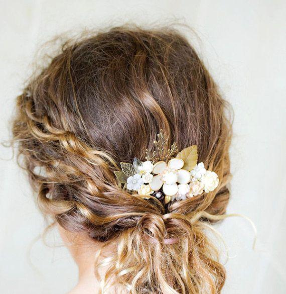 FREE SHIPPING Autumn Bridal Hair Comb Wedding Hair by lonkoosh, $99.00