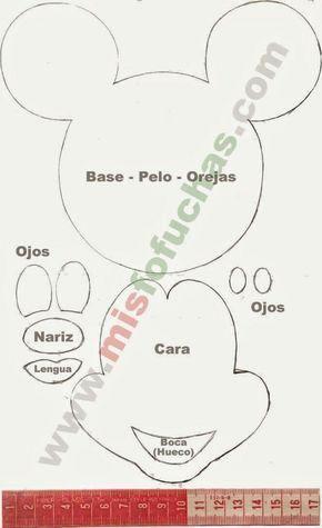 Molde Mickey Para Imprimir Coleção Cumple Mickey Mouse Invitaciones Mickey Mouse #mousecrafts