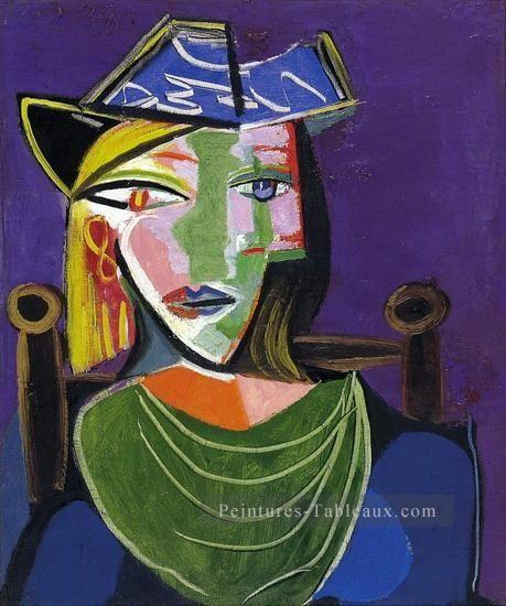 Portrait de femme au béret - 1937 - Picasso | tableau | Pinterest ...
