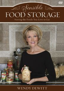 Wendy DeWitt has one of the simplest food storage methods out there! You can view one of her classes on a series of YouTube videos (9 of them). Fabulous! Her website has lots of info, tips, recipes for food storage and non-food storage ideas.