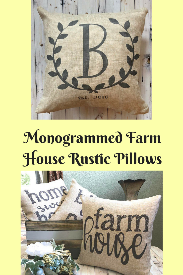 These lovely farmhouse style pillows are ideal if you are decorating ...