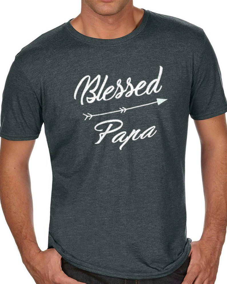 Papa Shirt Blessed Papa Mens T Shirt Dad Shirt Fathers Day Gift Dad Gift Husband Gift Blessed Dad Co #papashirts