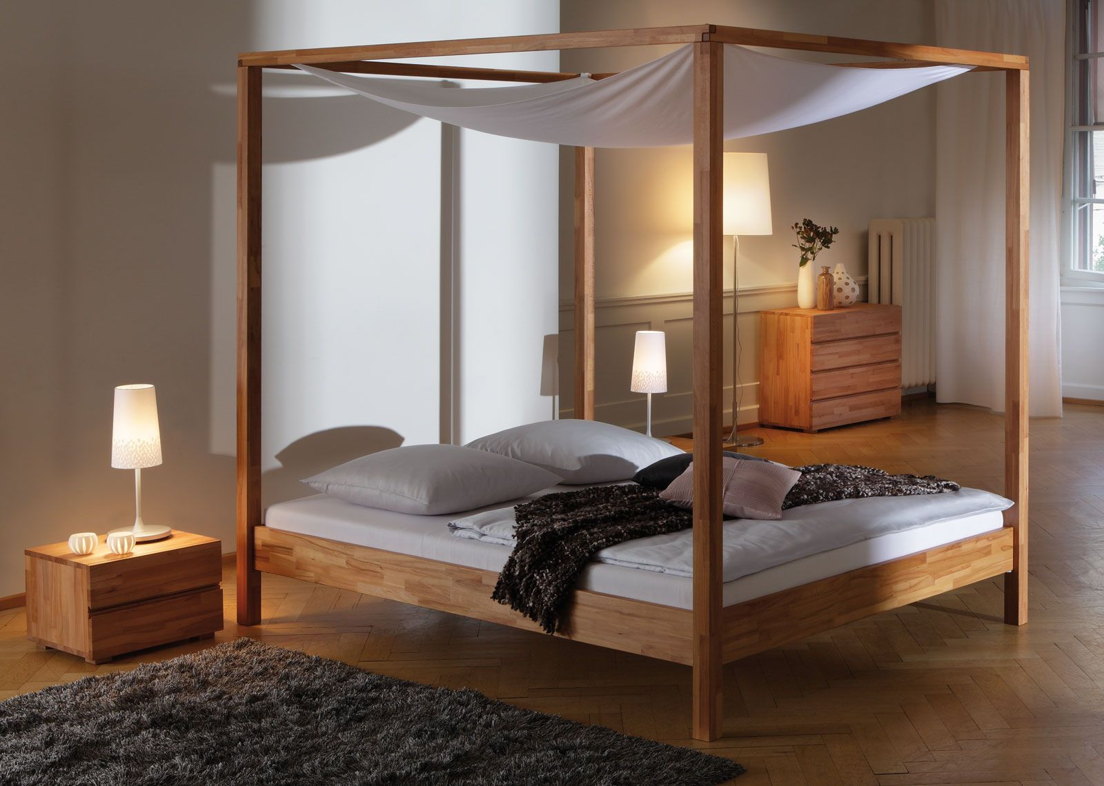 himmelbett merida betten pinterest himmelbett betten und baldachin. Black Bedroom Furniture Sets. Home Design Ideas