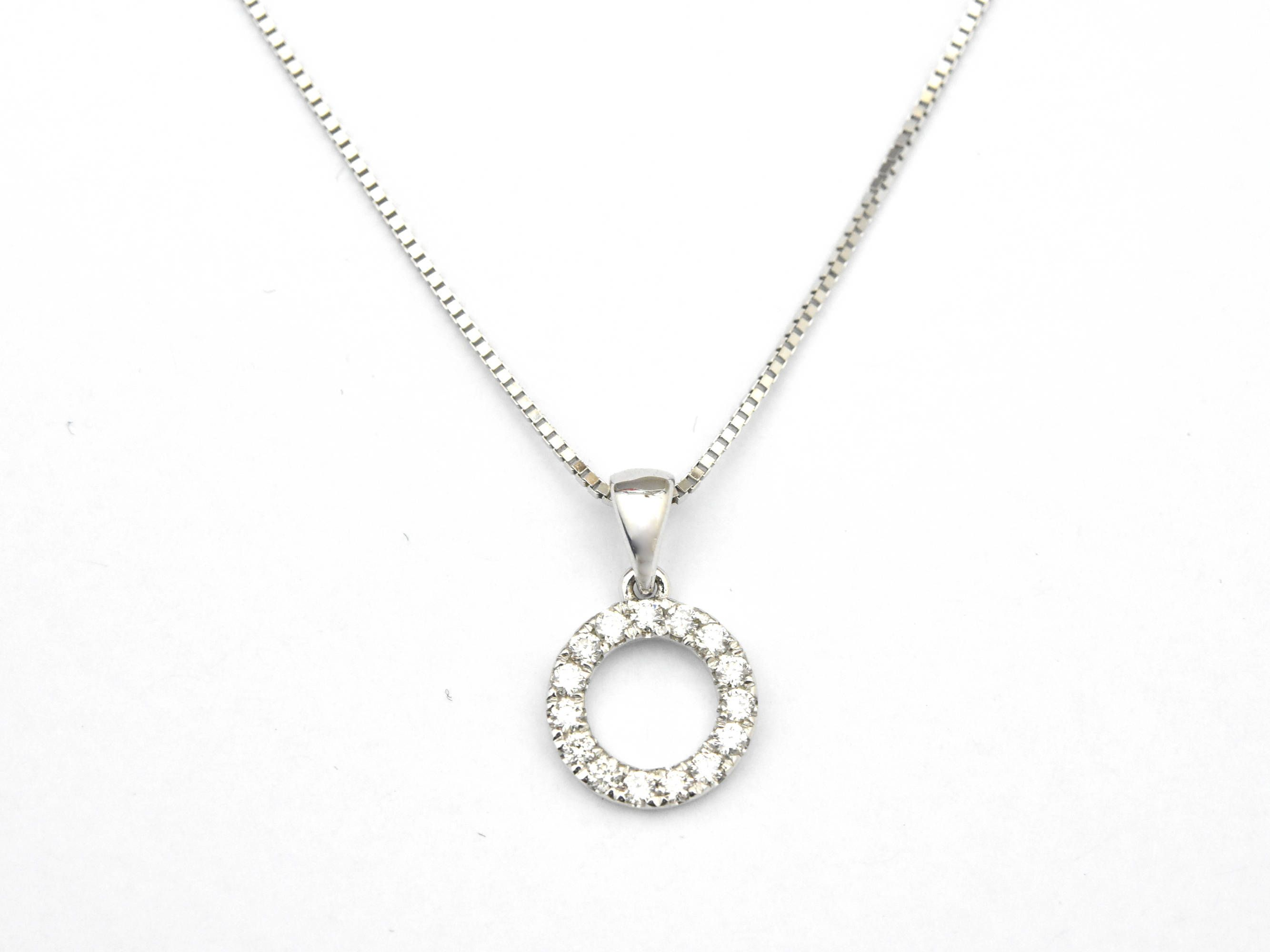 home diamond necklace necklaces circle product nature open shiny adp