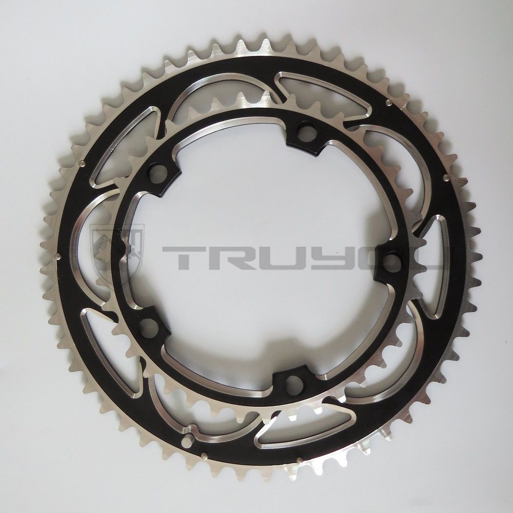 Small Mini Road Bike Bicycle Crank Single Double Gear Chainring Fixed Bolt