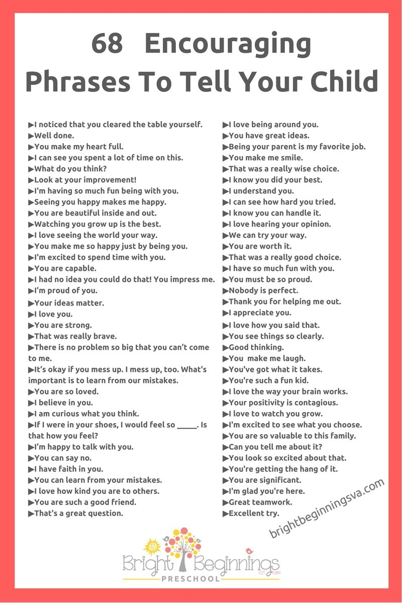 68 Encouraging Phrases To Tell Your