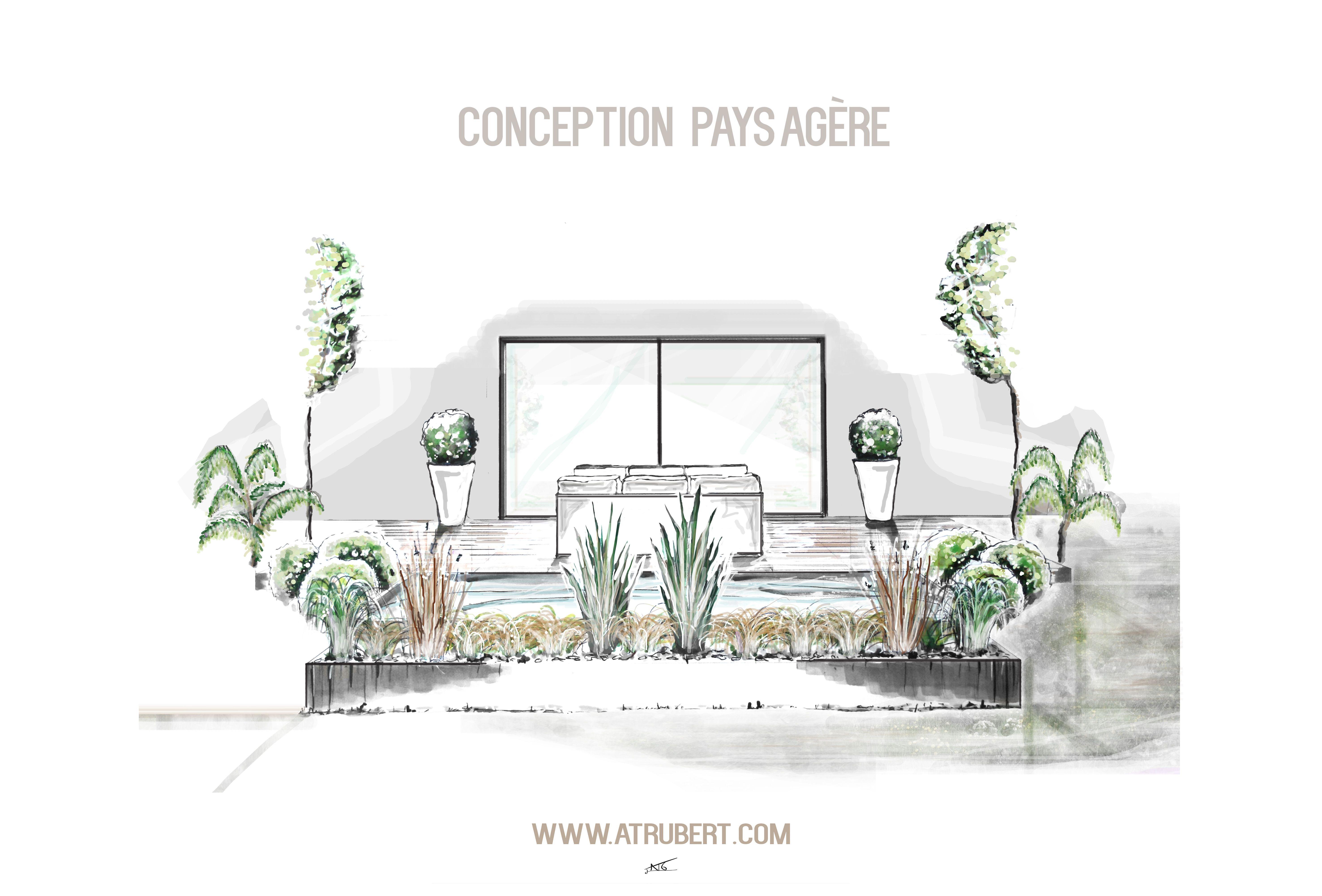 dessin perspective alexandre trubert a t elier 16 design architecte d 39 int rieur designer nantes. Black Bedroom Furniture Sets. Home Design Ideas