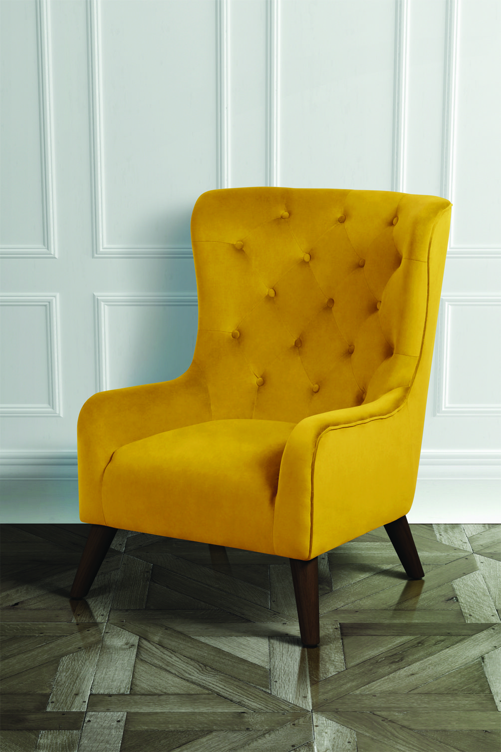 Dorchester Lounge Armchair Mustard Yellow Living Room Orange