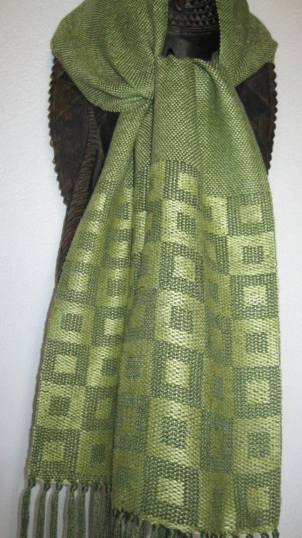 Handwoven Green Silk Scarf | Summer and Winter Weave | Flickr