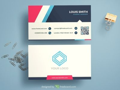 Name Card Template | Minimal Corporate Blue Business Card Template 名片 Pinterest