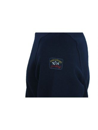 0438cf36d09 Paul and Shark Tonal Oversized Logo Sweat in Navy - Northern Threads ...