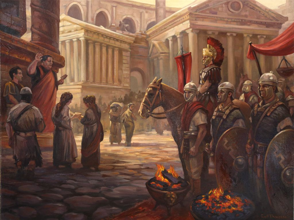 Roman painting by egilthompson on deviantart roman for Ancient roman mural