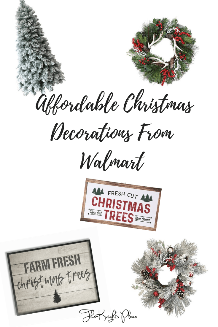 Affordable Christmas Decorations From Walmart | The Knight\'s Place ...