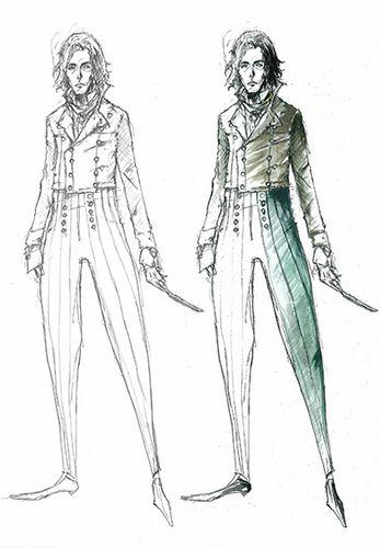 Sweeney Todd Costume Sketch   me   Pinterest   Skizzen, Vorlagen und ...