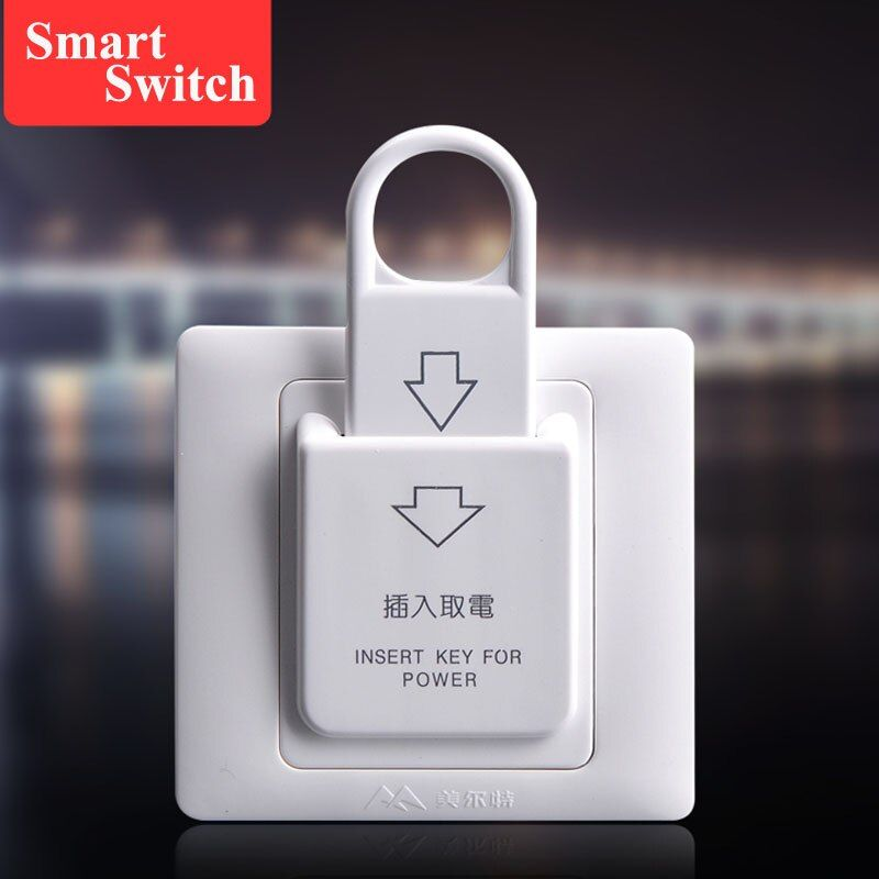 1pcs 86x86cm hotel card electric switch 180 250v