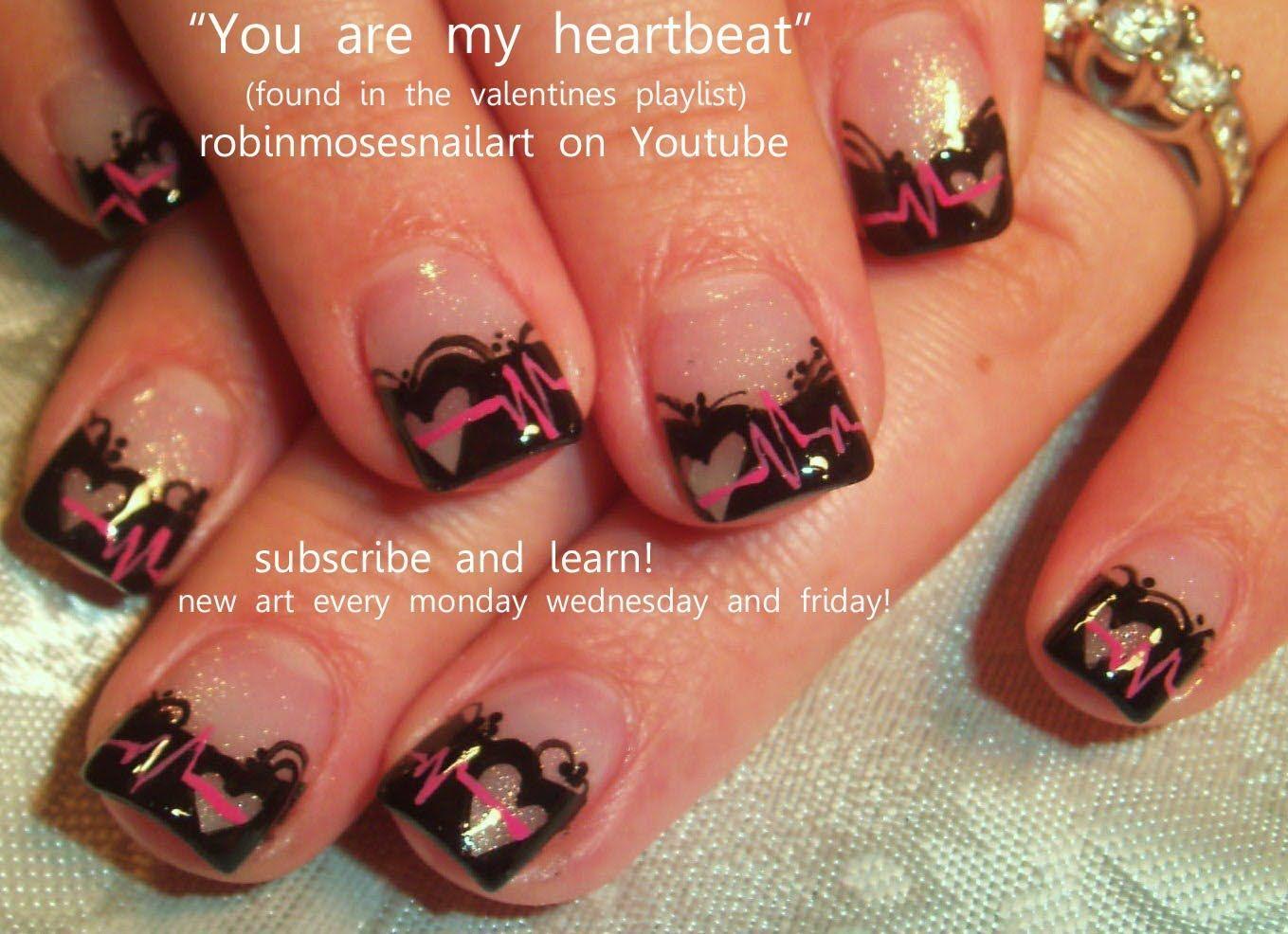 Cute Valentines Day Nail Art Nail Art Pinterest Robin Moses