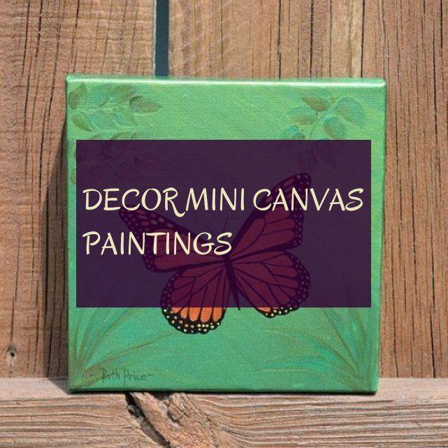 Decor mini canvas paintings
