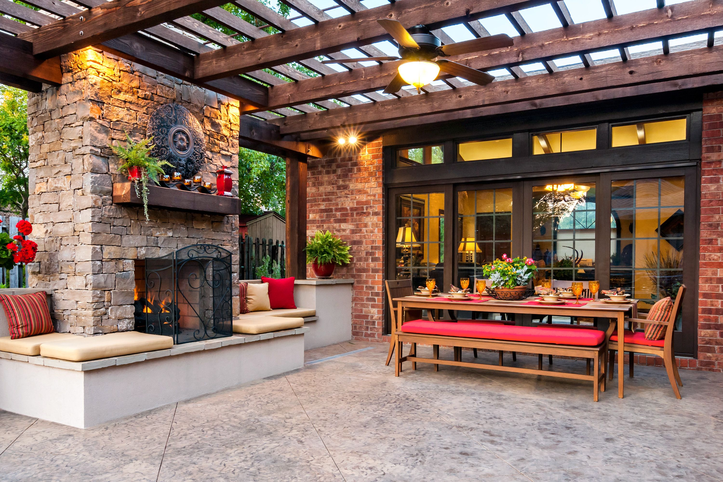 42 ideas for the perfect outdoor space fireplace kits cozy