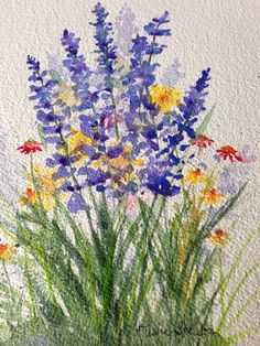 Water Colors On Pinterest Watercolor Cards Watercolor Flowers