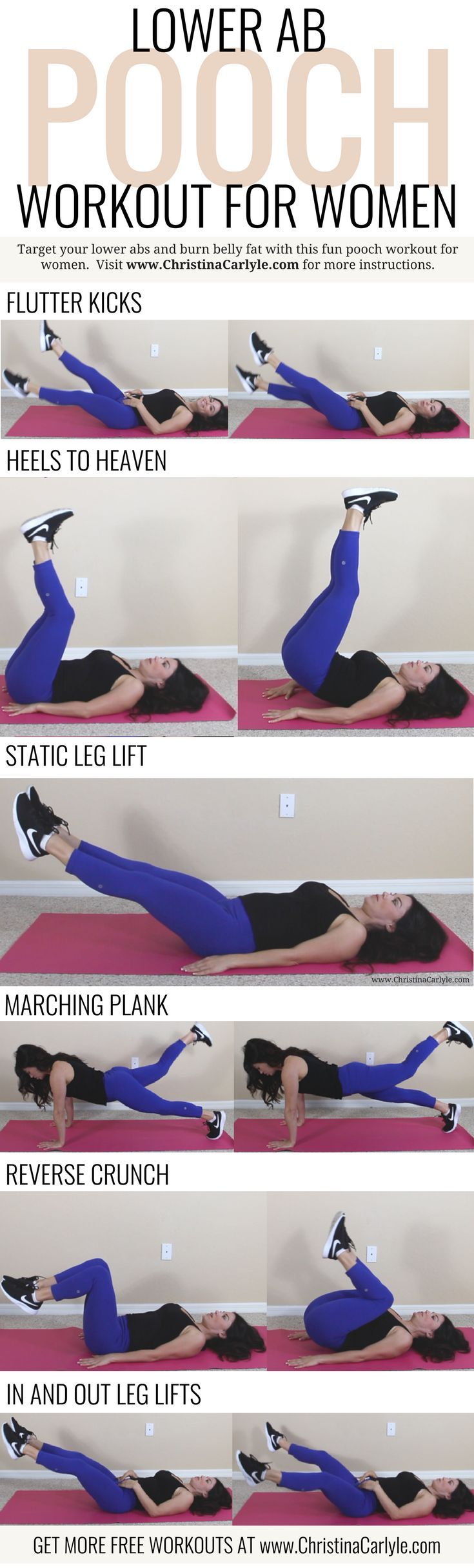 Lower Ab Exercises  Workout for Women  Exercise  Pinterest