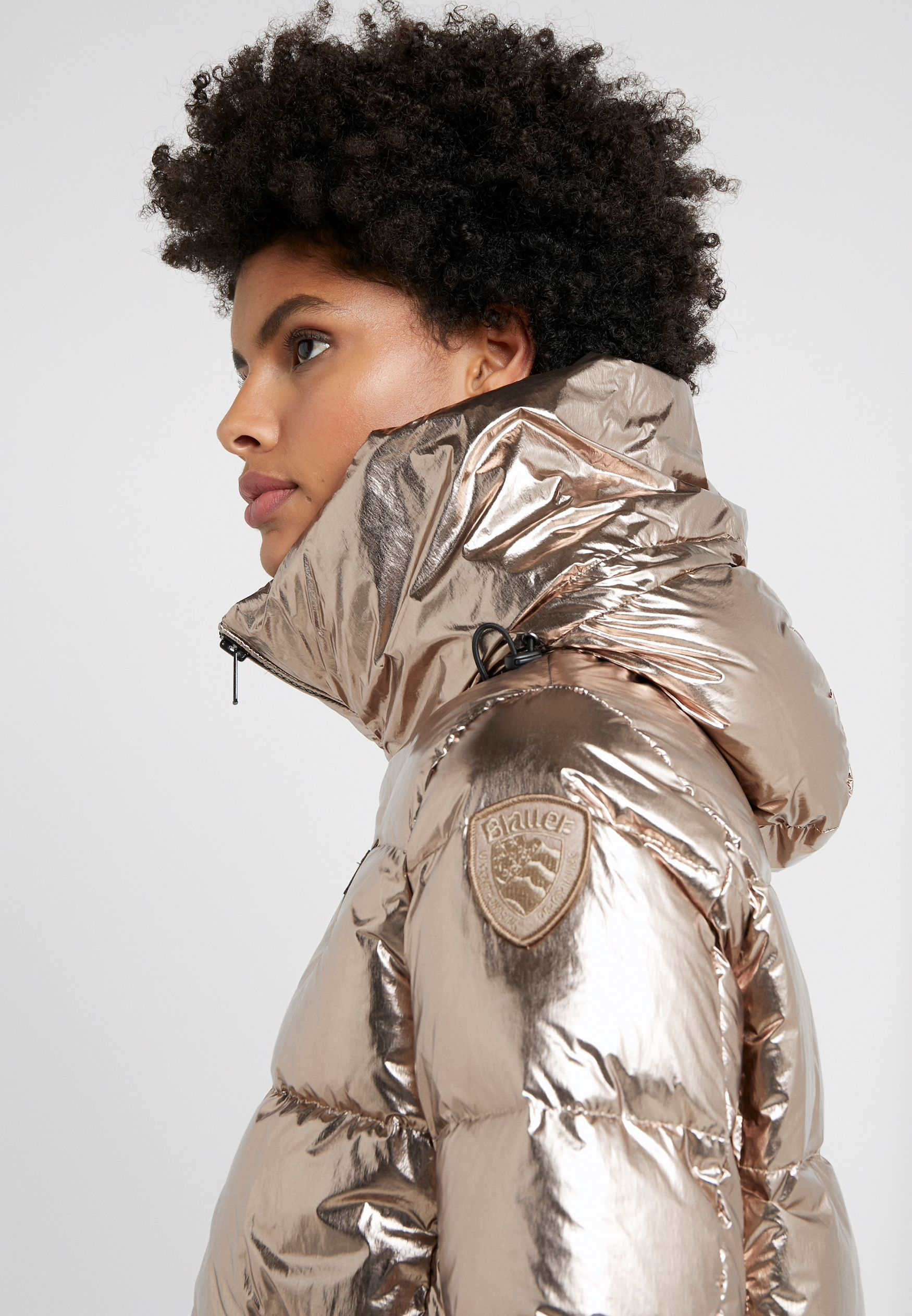 Pin on Down Jacket - Gold & Silver