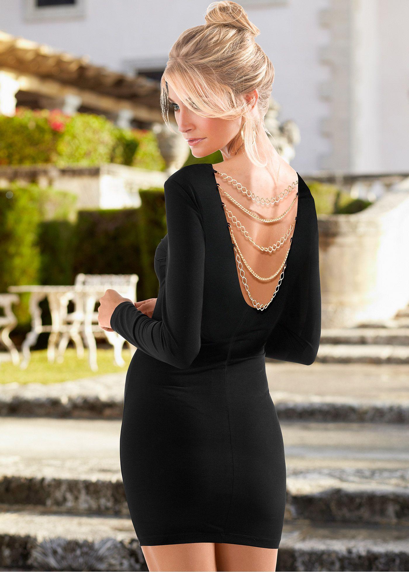 Vestido tubinho preto encomendar agora na loja on-line bonprix.de  R$ 109,00 a partir de Vestido tubinho manga longa e comprimento curto. Decote redondo e ...