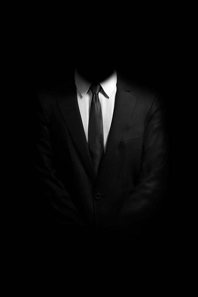 Anonymous Man Black Wallpaper Iphone Black Mobile Wallpaper