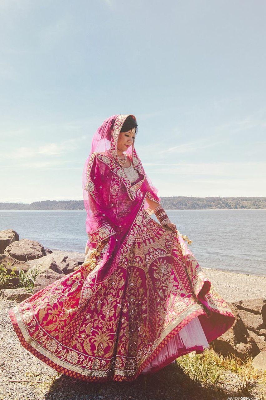 South asian wedding dresses  Photography Mandev Sidhu  wedding lehengas  Pinterest  Wedding