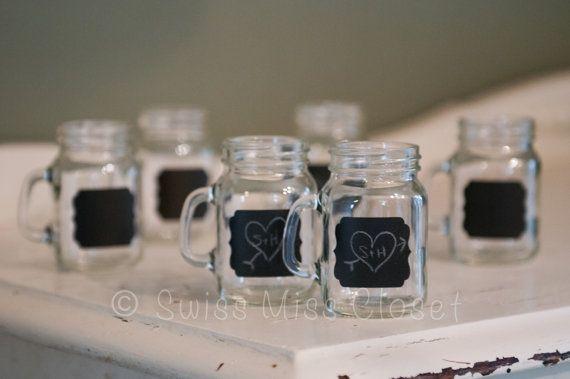 50 mini mason jar shot glasses and chalkboard labels for diy wedding 50 mini mason jar shot glasses and chalkboard labels for diy wedding favors from heathers etsy shop etsyshopswissmisscloset solutioingenieria Gallery